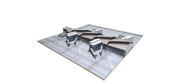 South Concourse Los Angeles - Tom Bradley Intern. Terminal (1:500)