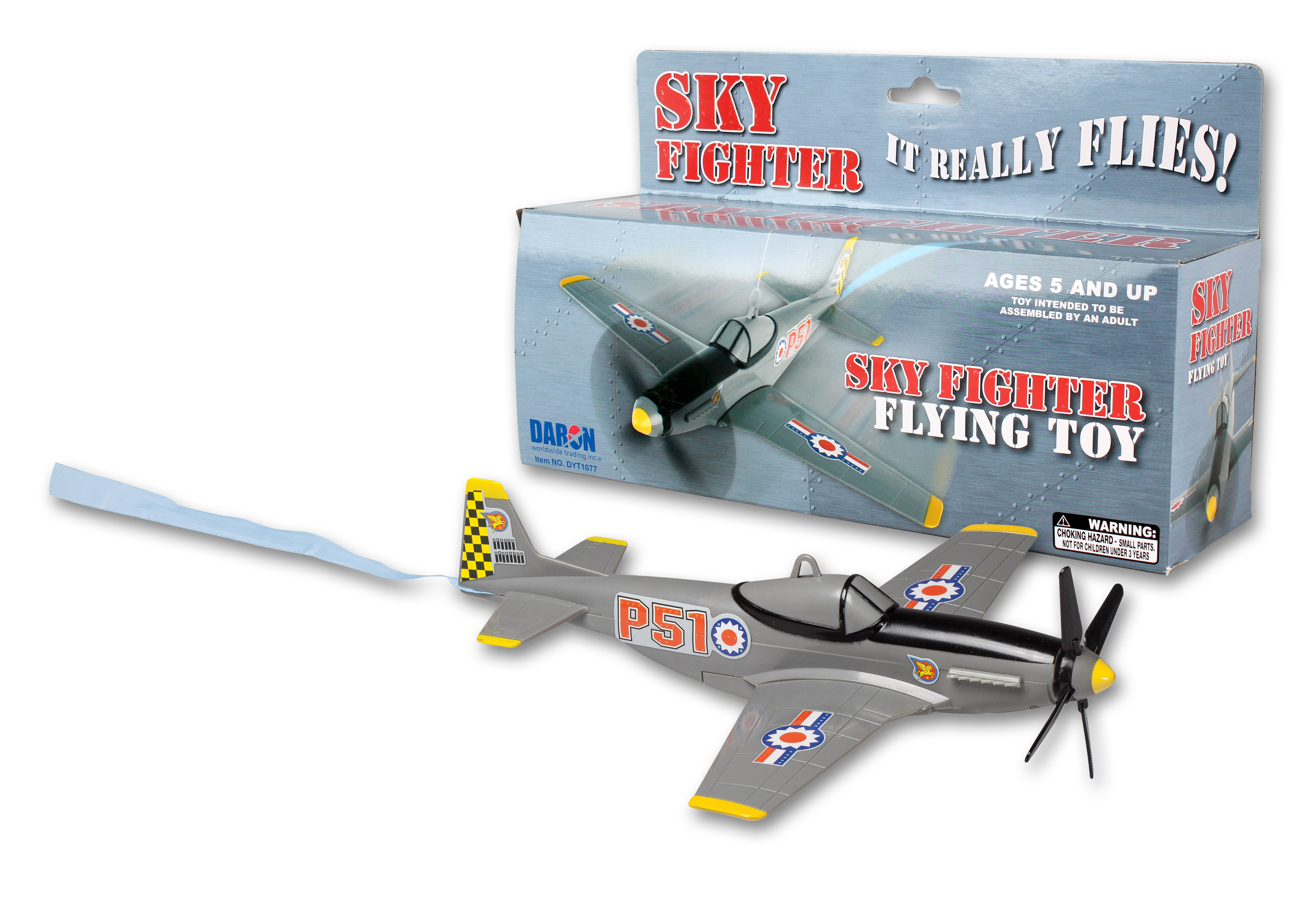 """DYT1077 - """"sky Fighter Flying Toy On A String"""""""