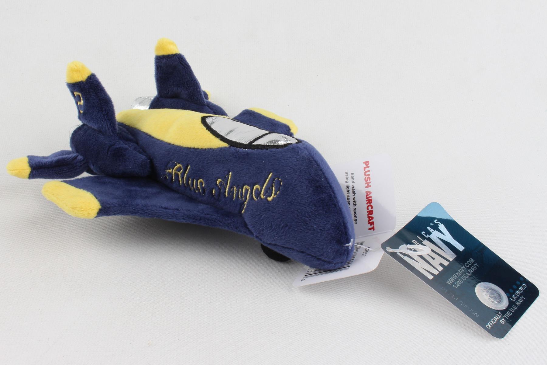 "MT017 - ""blue Angels Plush Airplane - No Sound"""